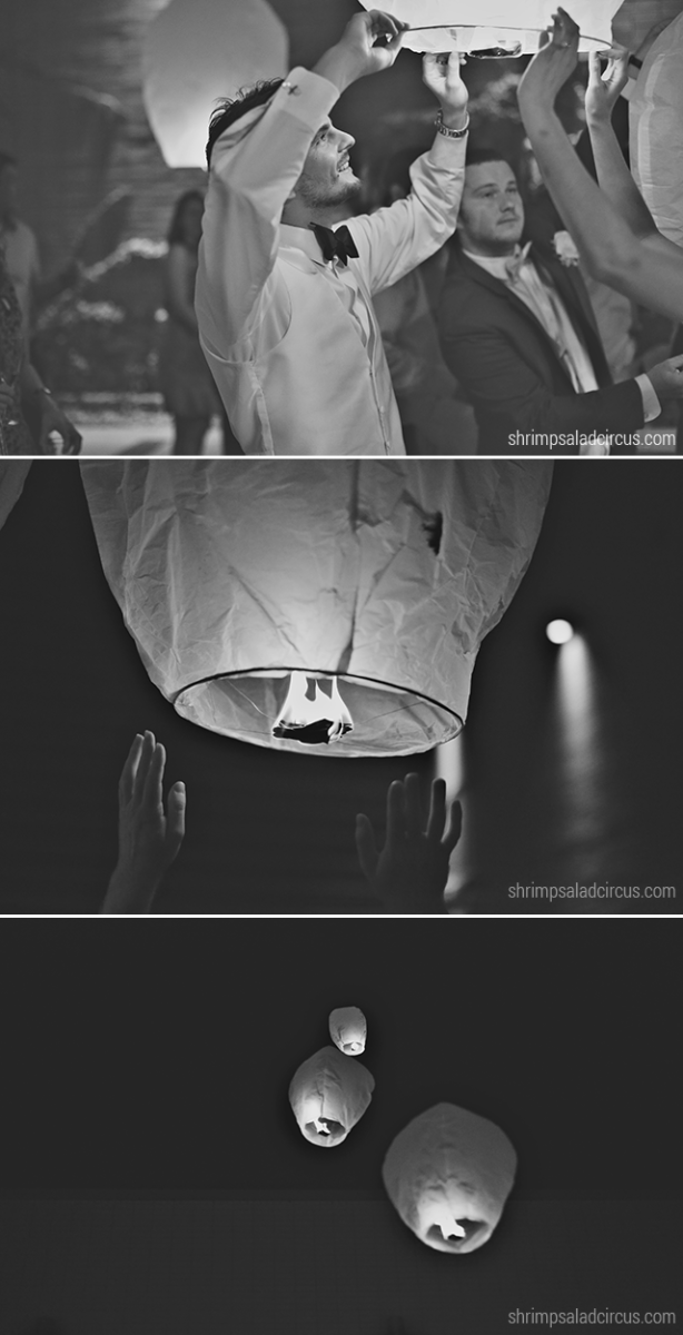 Shrimp Salad Circus Wedding Photos - Paper Lanterns