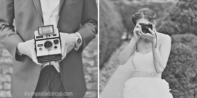 Shrimp Salad Circus Wedding Photos - Vintage Cameras
