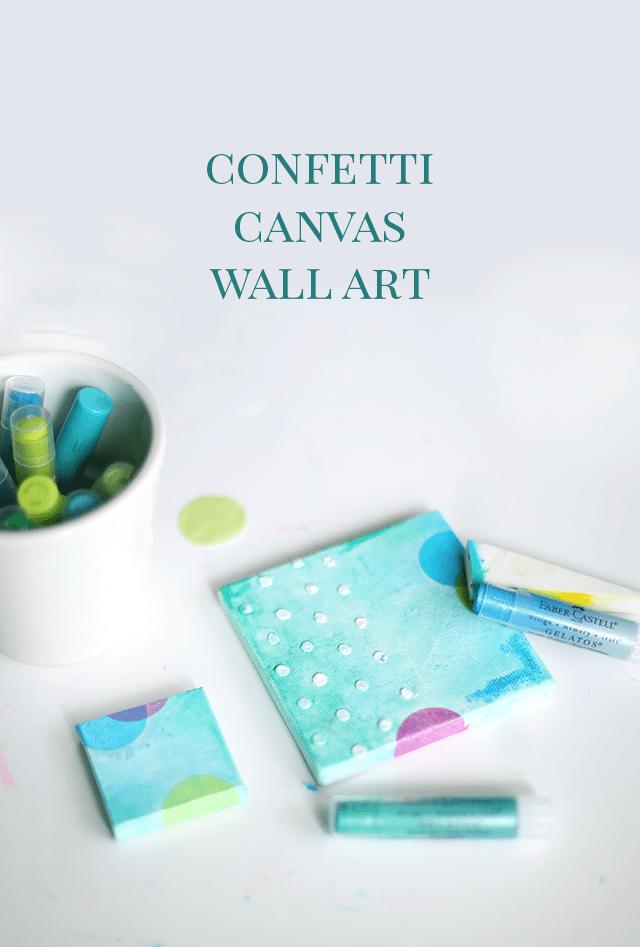 DIY Confetti Canvas Wall Art Tutorial