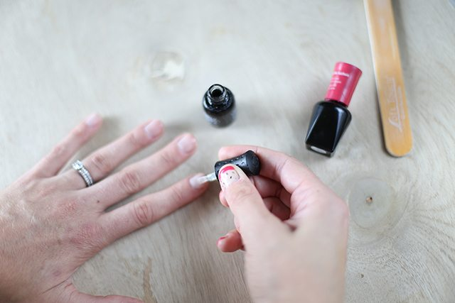 DIY Dragonfruit Manicure Tutorial - Step 1