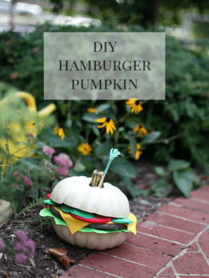 Hamburger Pumpkin Fall Decor thumbnail