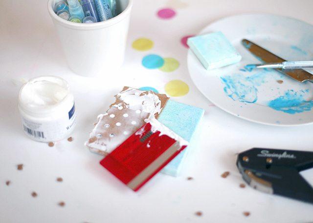 DIY Mixed Media Confetti Canvas Art Step 3