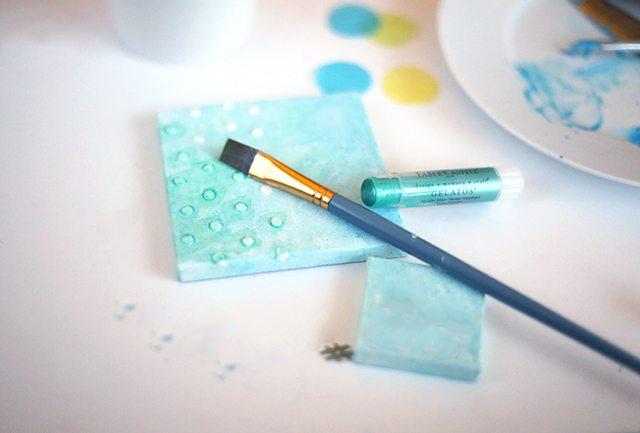 DIY Mixed Media Confetti Canvas Art Step 4
