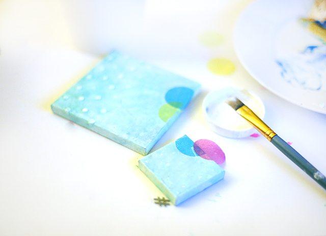 DIY Mixed Media Confetti Canvas Art Step 5