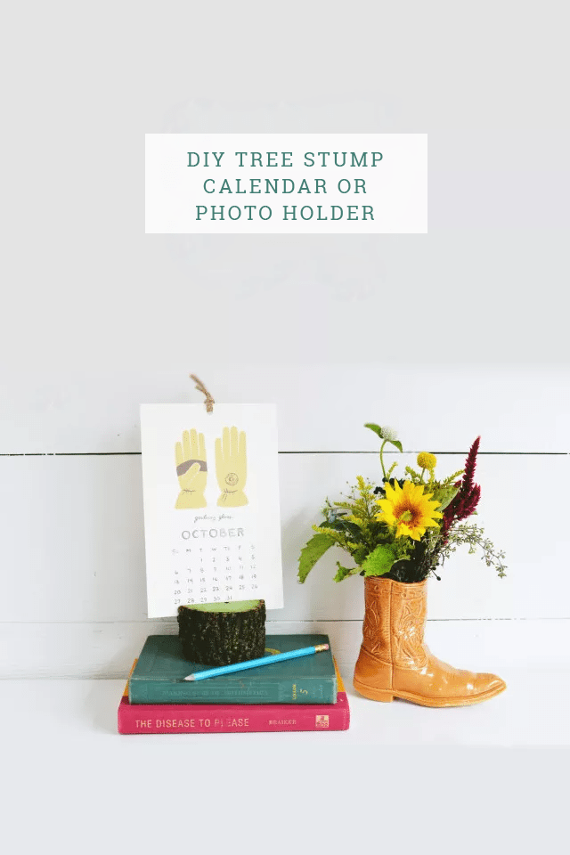 DIY Tree Stump Photo Holder Tutorial