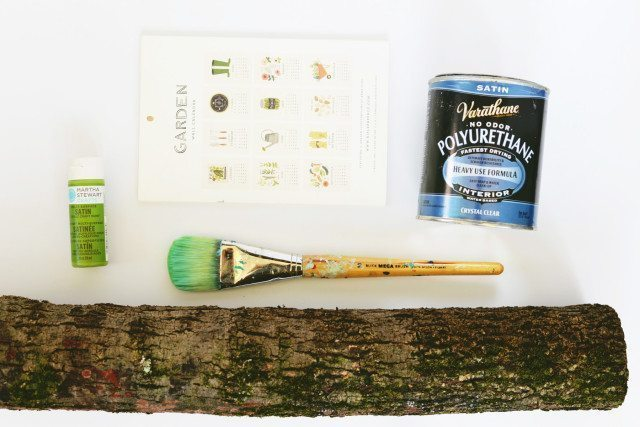 DIY Painted Stump Calendar Holder - Supplies