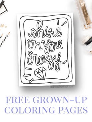 Shine on You Crazy Diamond – Free Coloring Page thumbnail