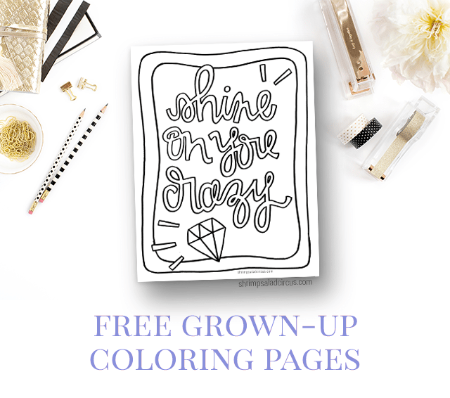 Free Adult Coloring Pages - Shine On You Crazy Diamond