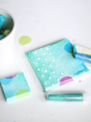 DIY Confetti Canvas Art – How To-sday thumbnail