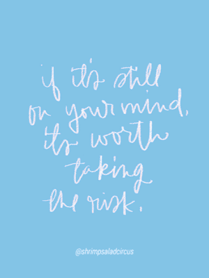 Worth the Risk – Hand Lettered Quote thumbnail