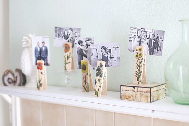 DIY Botanical Photo Clips