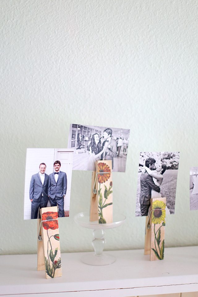 DIY Image Transfer Photo Holders