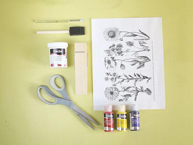 DIY Photo Holders - Supplies
