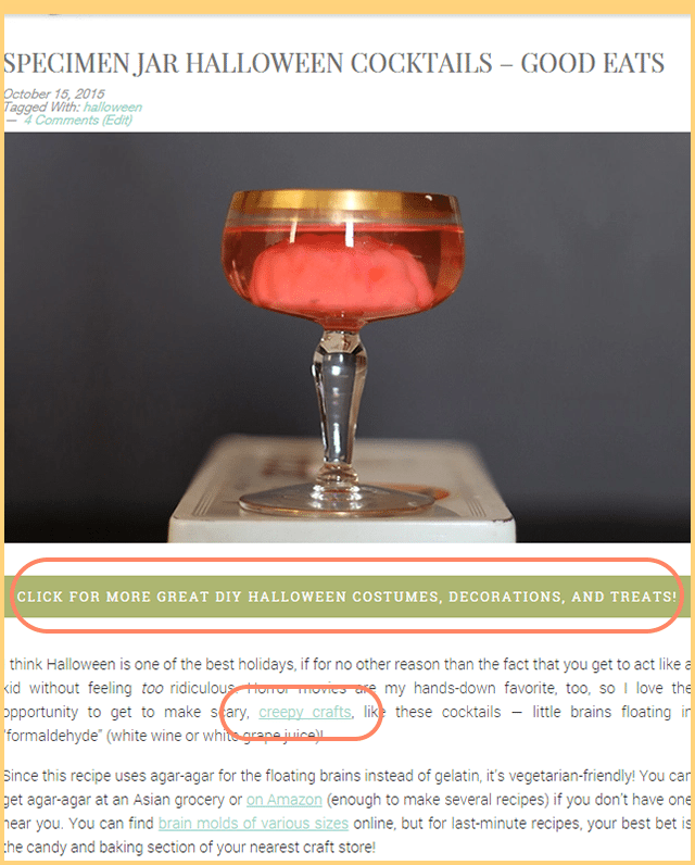 Example - Internally Linking Blog Posts