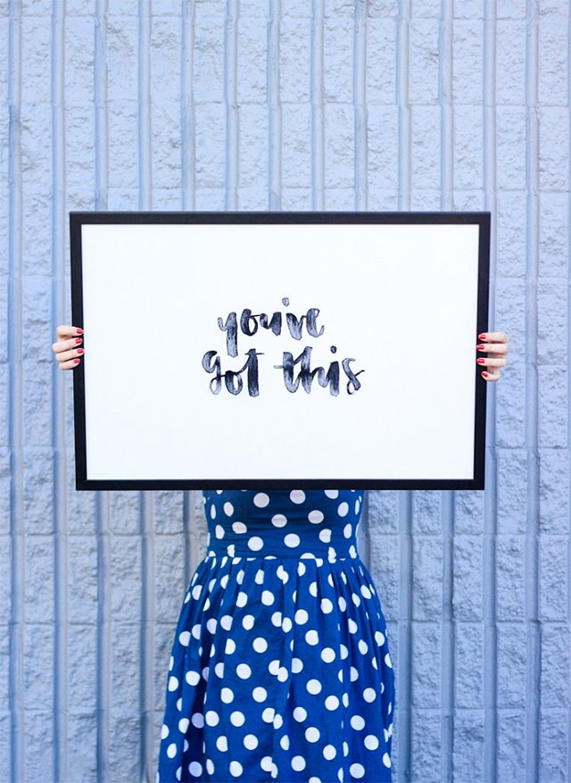 Free Hand Lettered Printable Quote Art
