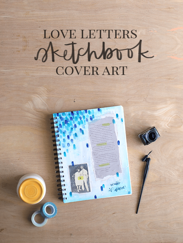 Mixed Media Sketchbook Cover Tutorial