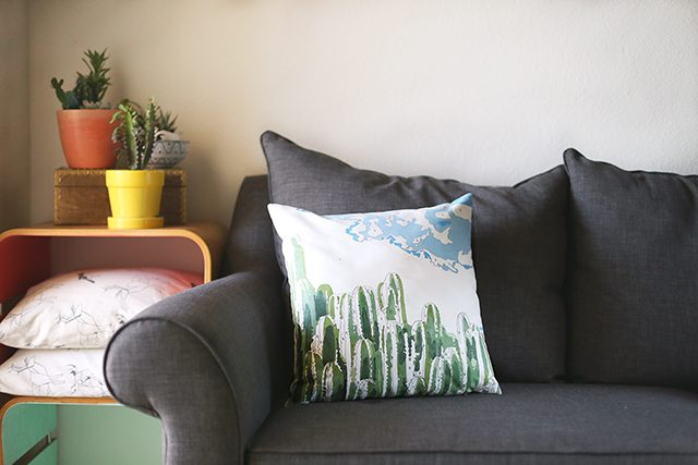 Cactus DIY Paint by Numbers Pillow Tutorial