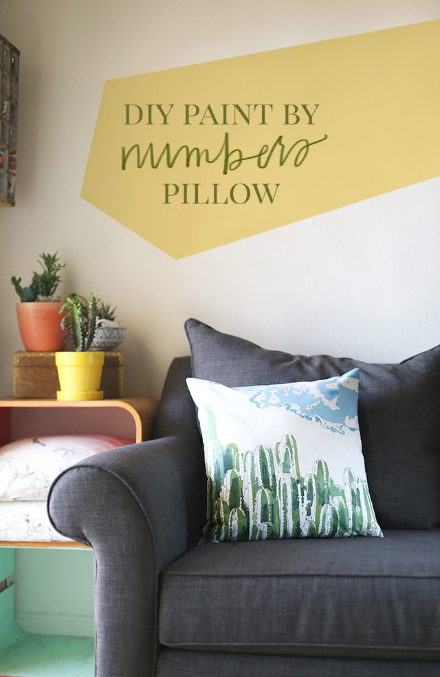 Cactus DIY Paint by Numbers Pillow