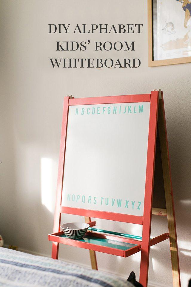DIY Chalkboard Easel for a Kids Room