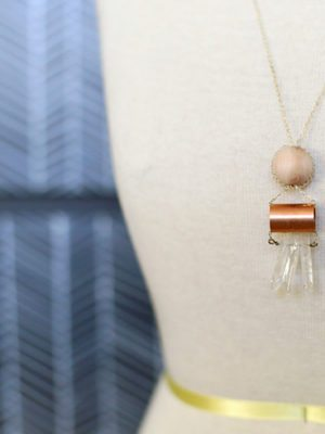 DIY Copper and Crystal Necklace – How To-sday thumbnail
