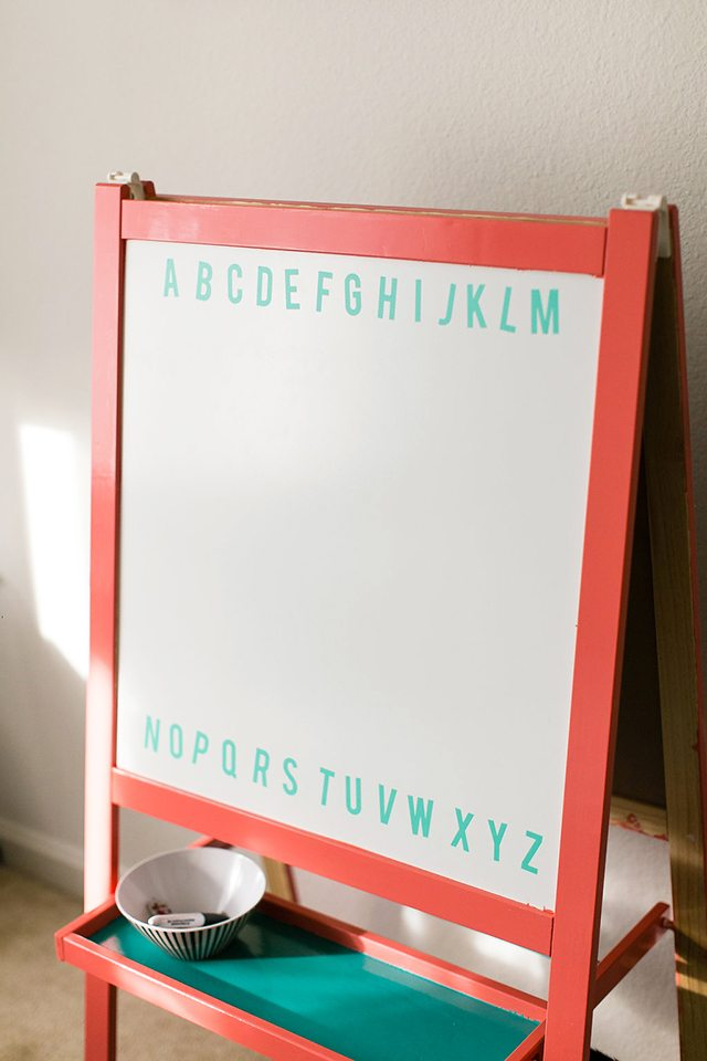 DIY Chalkboard Easel for Kids - IKEA Hacks - Shrimp Salad