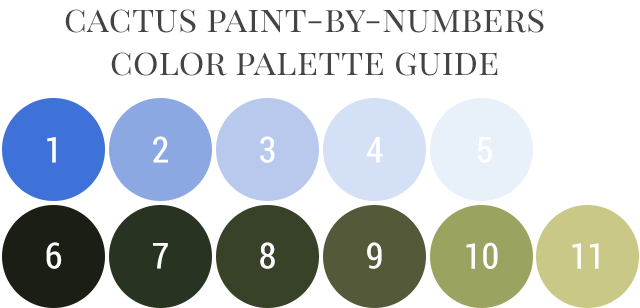 DIY Paint by Numbers Pillow - Color Palette Mixing Guide