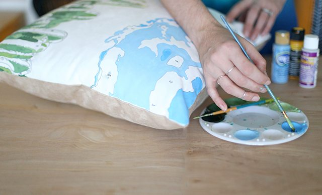 DIY Paint by Numbers Pillow - Step 4 - Adding More Colors
