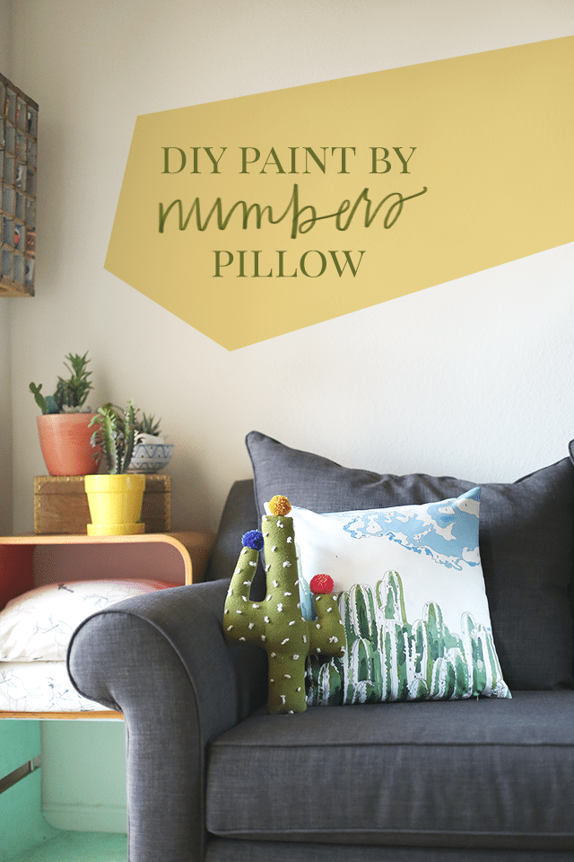 Cactus DIY Paint by Numbers Pillow + Freebie - How To-sday - Shrimp ...