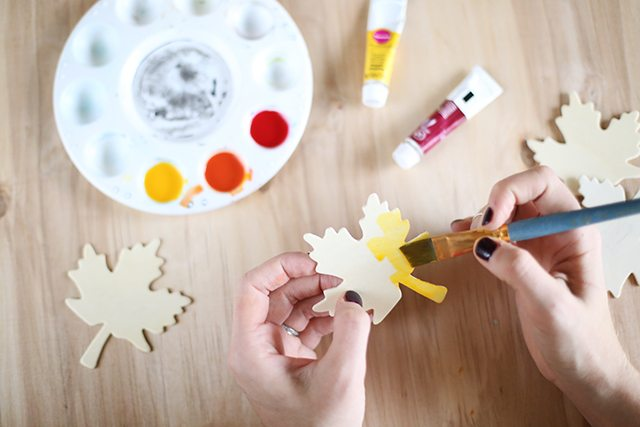DIY Thanksgiving Place Cards - Step 1