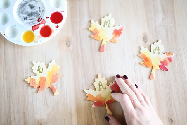 DIY Thanksgiving Place Cards - Step 10