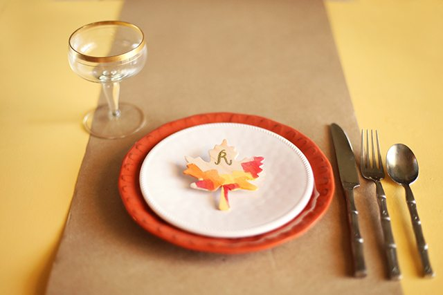 DIY Thanksgiving Place Cards