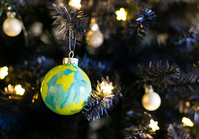 Doctor Who Christmas Tree - Planet Ornaments