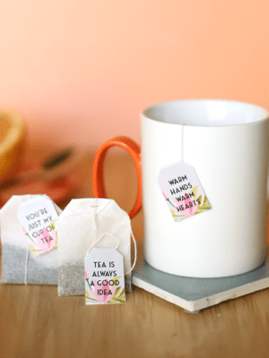 Floral Free Printable Tea Bag Tags thumbnail