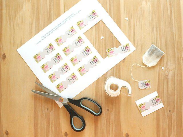 Free Printable Tea Bag Tags - Fold and Tape