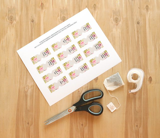Free Printable Tea Bag Tags - Supplies