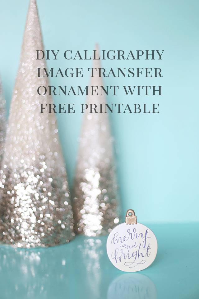 Diy Calligraphy Christmas Ornament With Free Image