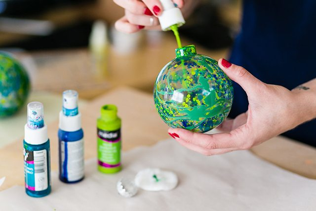DIY Galaxy and Planet Christmas Ornaments - Step 3