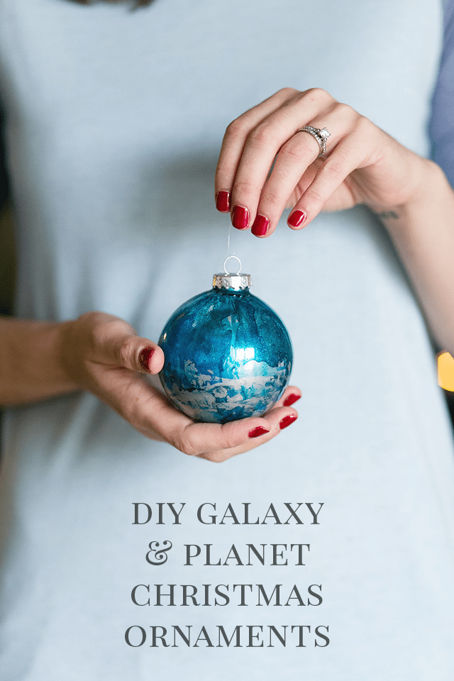 DIY Galaxy and Planet Christmas Ornaments