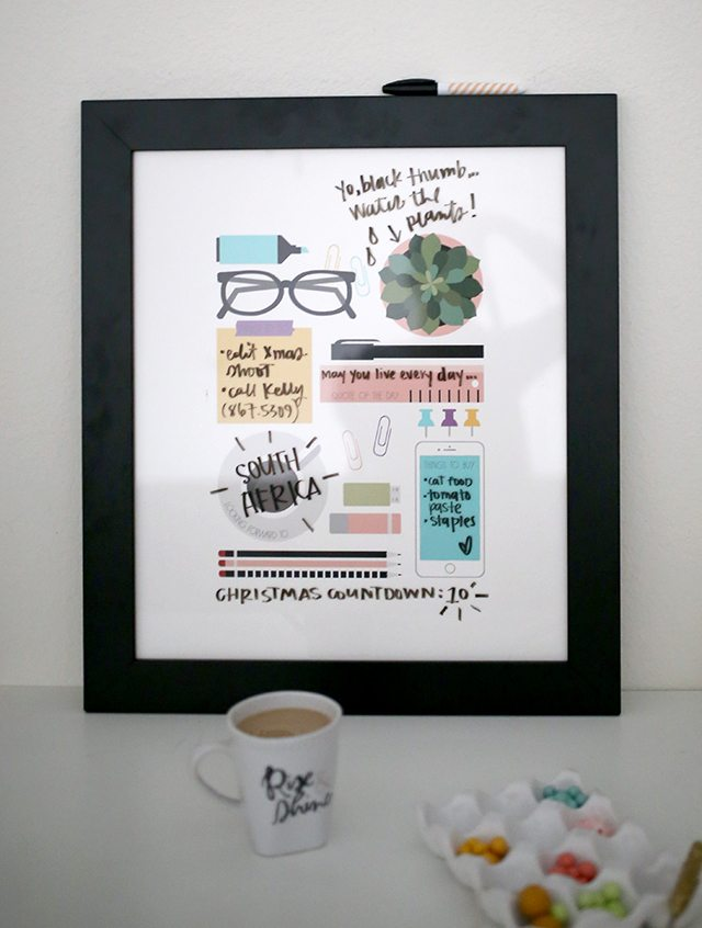 Free DIY Dry Erase Planner and Organizer Wall Art