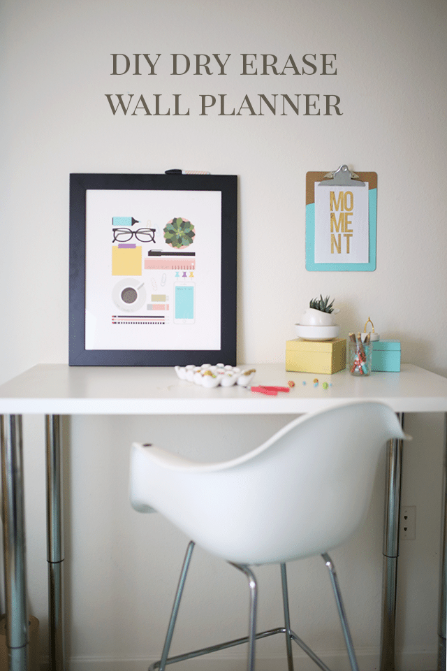 Free DIY Dry Erase Planner and Wall Art
