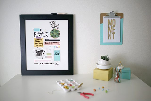 Free DIY Dry Erase Planner with Printable Art