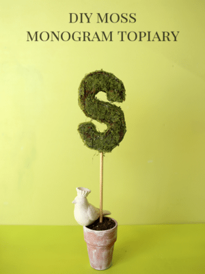 DIY Monogram Topiary – How To-sday thumbnail