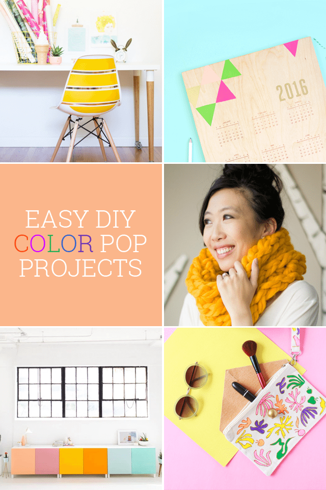 Easy DIY Projects to Add a Bright Pop of Color to Your Home and Accessories