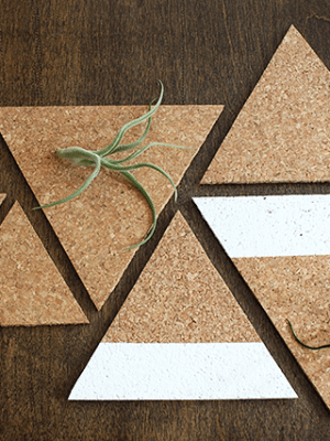 DIY Cork Board Triangle Trivets thumbnail