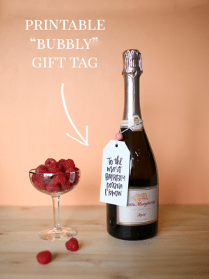 Free Printable Gift Tags for Bubbly and Bubbles thumbnail