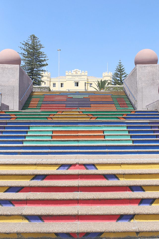 Cape Town Travel Guide - What to See - Painted Steps to Somerset Hospital Near the V&A Waterfront