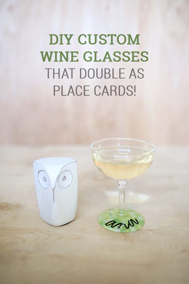 DIY Custom Wine Glasses Make Perfect Place Cards for a Wedding Shower or Bachelorette Party