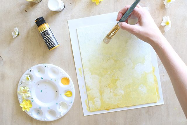 DIY Floral Wall Art - Step 2