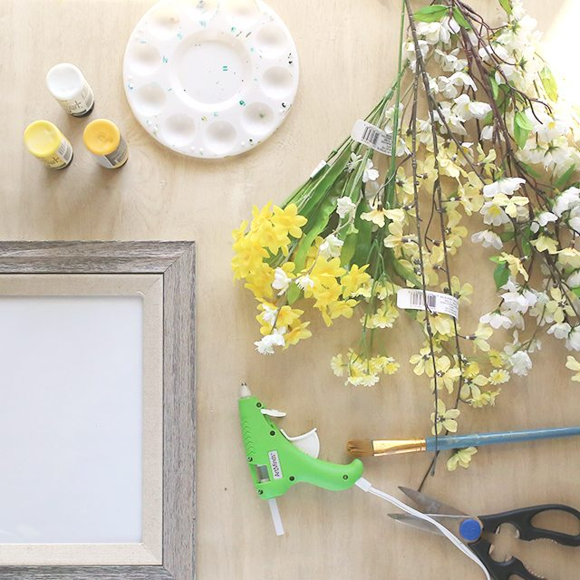 DIY Floral Wall Art - Supplies