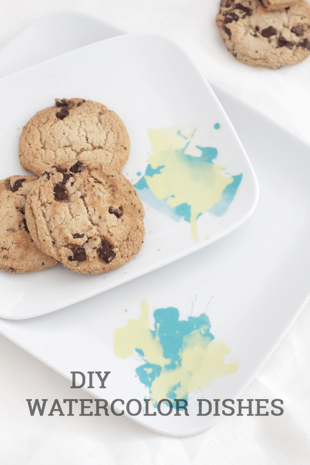 DIY Watercolor Dishes